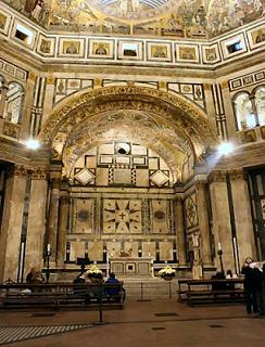 the interior of Battistero di San Giovanni Church in Florence