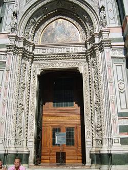 entrance door of the cathedral in Florence