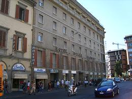 Florence Italy, Hotel delle Nazioni view from the station