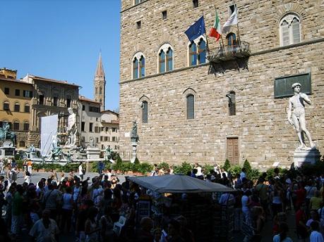 palazzo vecchio at Piazza della Signoria