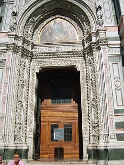 door of the Duomo