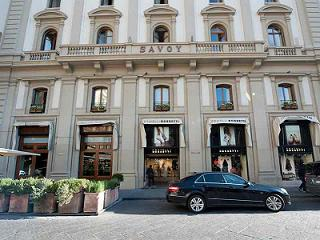 entrance hotel savoy in florence italy